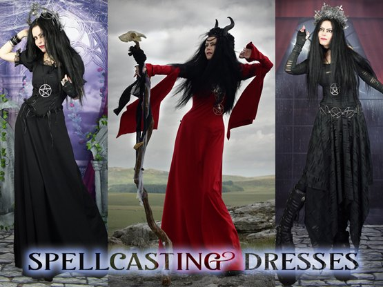 Oh so witchy gothic dresses by Moonmaiden Gothic Clothing - click here for our full range!