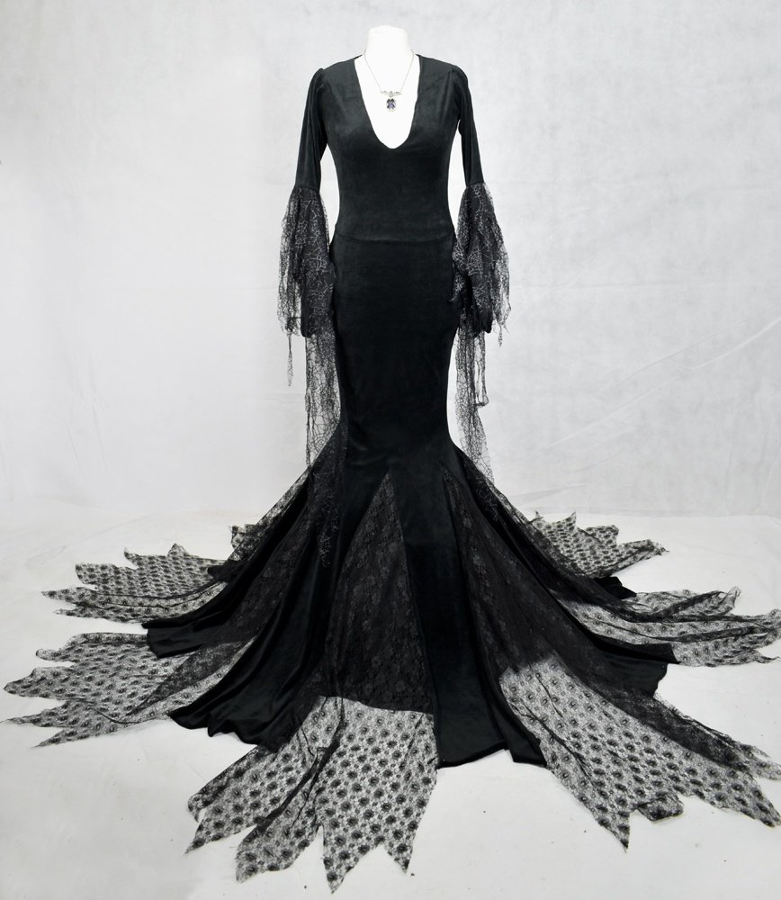 Our epic Morticia Addams Gown!