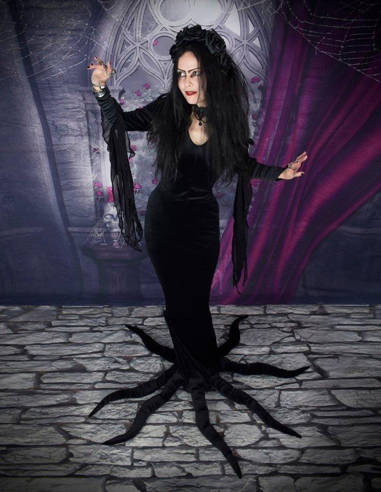 Carolyn Jones Morticia Dress - deluxe Addams Family Dress