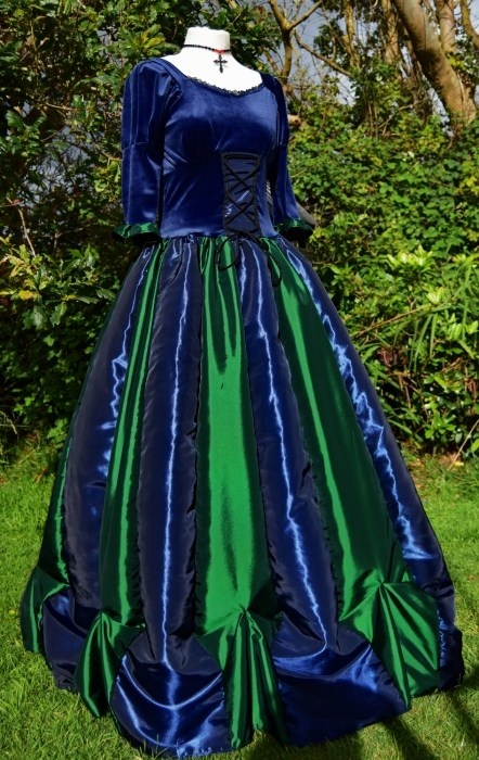 Steampunk Ballgown - Midnight and Forest