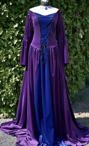 Melian Gown in Amethyst and Midnight