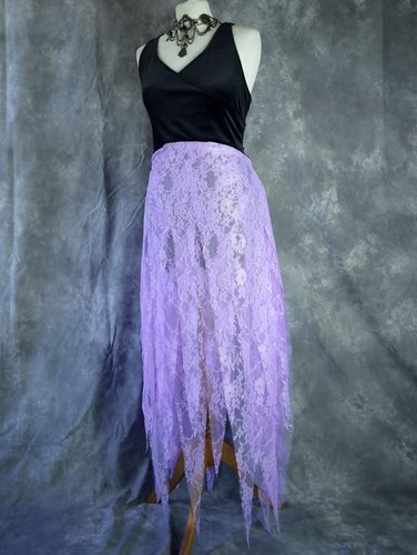 Custom Donella Dress in Black and Lilac