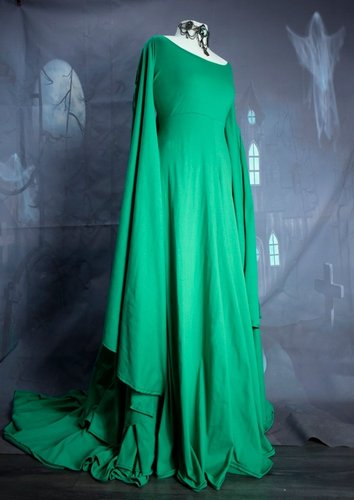 Custom Fae of the Falls Gown - Jade Green