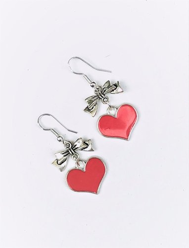 Heart and Bow Earrings