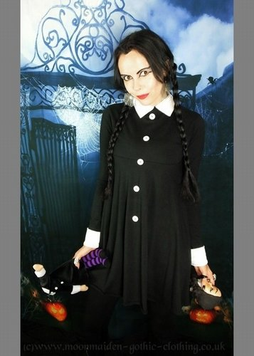 Wednesday Addams Mourning Mini Dress
