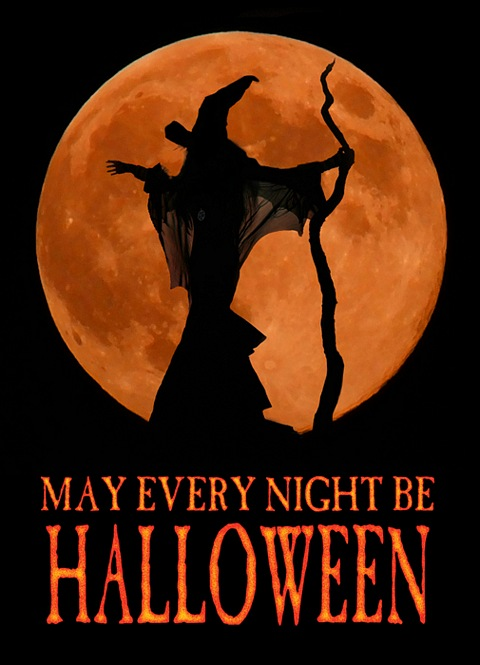 Moonmaiden - May Every Night be Halloween Card