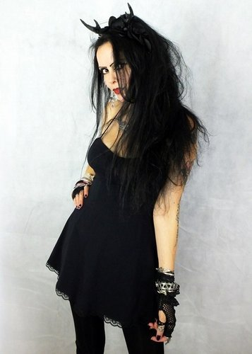 Little Black Raven Mini Dress