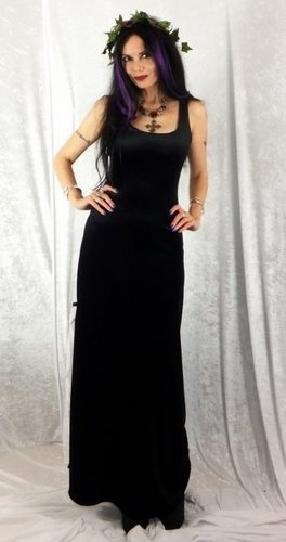 Long Black Widow Dress