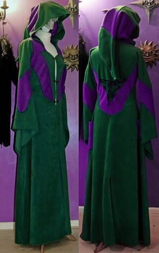 Taurielain Coat - Forest and Purple
