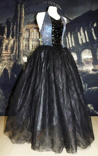 Forsaken Gown in Pewter and Gunmetal