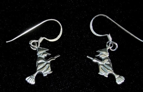 Silver Small Witch Earrings - SALE