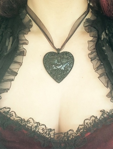My Beautiful Gothic Keepers Of The Heart Necklace