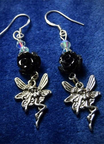 Rose and Faery Earrings