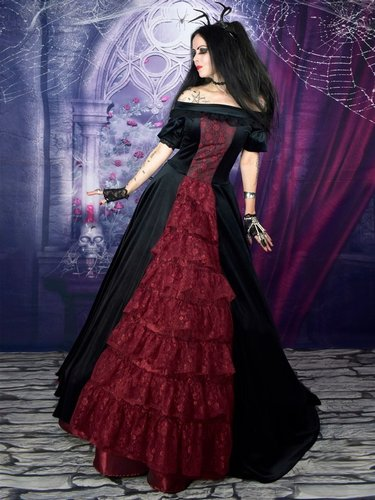 Scarlet in the Shadows Gown