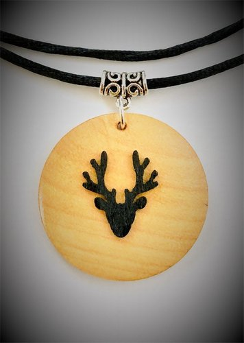 My Beautiful Gothic Stag Head Necklace